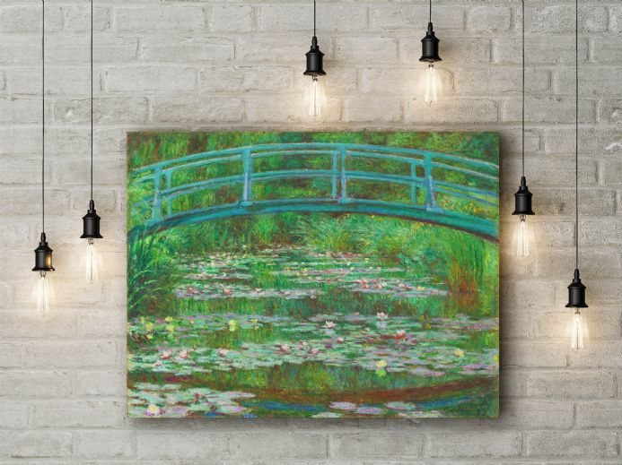 Claude Monet: The Japanese Footbridge. Fine Art Canvas.